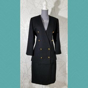 Holly's Vintage Double Breasted Blazer Skirt Suit